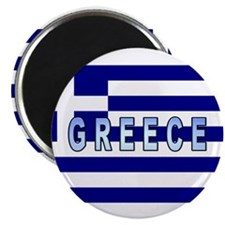 Greece Flag Labeled Magnet