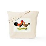 Leghorns Rooster & Hen Tote Bag