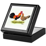 Leghorns Rooster & Hen Keepsake Box