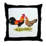 Leghorns Rooster & Hen Throw Pillow