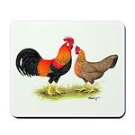 Leghorns Rooster & Hen Mousepad
