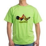 Leghorns Rooster & Hen Green T-Shirt