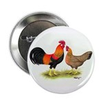 Leghorns Rooster & Hen Button