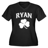Ryan Irish Women's Plus Size V-Neck Dark T-Shirt