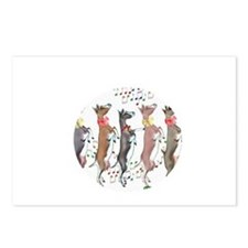 Togg Xmas Milkers Dancing Postcards (Package of 8)
