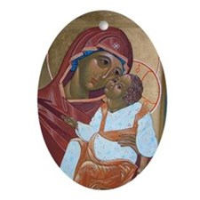 "Our Lady ""Eleousa"" Oval Ornament"