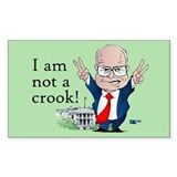 Trickier Dick Cheney/Nixon Rectangle Decal
