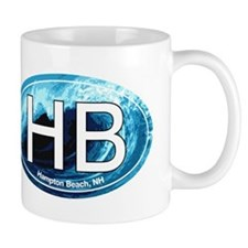 HB Hampton Beach, NH Wave Oval Mug