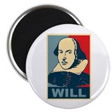 "Pop Art William Shakespeare 2.25"" Magnet (10 pack)"
