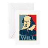 Pop Art William Shakespeare Greeting Cards (Pk of