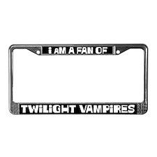 A fan of Twilight Vampires License Plate Frame