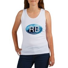 RB Rehoboth Beach Wave Oval Women's Tank Top