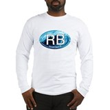 RB Rehoboth Beach Wave Oval Long Sleeve T-Shirt