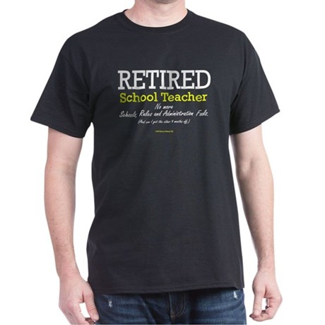 Retired Teacher Black T
