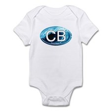 CB Cocoa Beach Wave Oval Infant Bodysuit