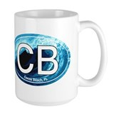 CB Cocoa Beach Wave Oval Coffee Mug