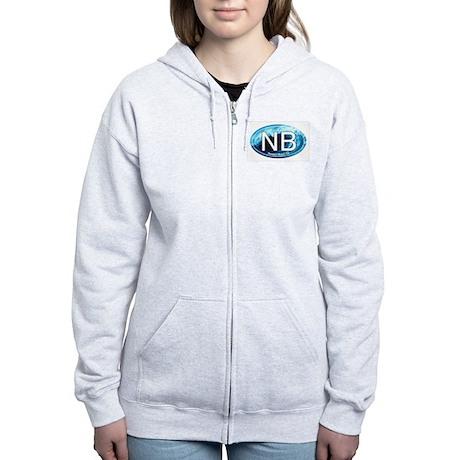 NB Newport Beach Wave Oval Women's Zip Hoodie