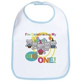 Elephants 1st Birthday Bib