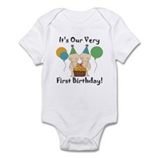 Twin Babies 1st Birthday Infant Bodysuit