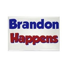 Brandon Happens Rectangle Magnet