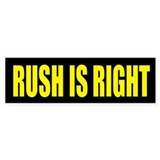 Rush is Right Bumper Bumper Stickers