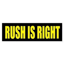 Rush is Right Bumper Sticker (10 pk)