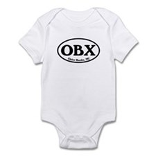 OBX Outer Banks, NC Oval Infant Bodysuit
