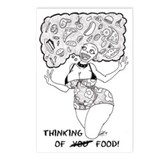 Thinking Of Food Germaine Postcard (Package of 8)