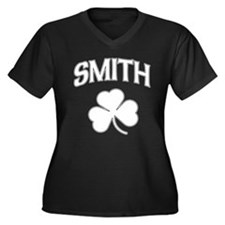 Irish Smith Women's Plus Size V-Neck Dark T-Shirt