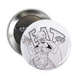 """EAT & be merry! 2.25"""" Button"""