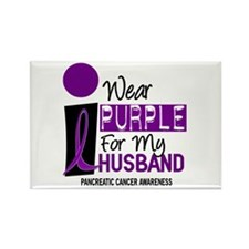 I Wear Purple For My Husband 9 PC Rectangle Magnet