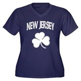 New Jersey Irish Shamrock Women's Plus Size V-Neck