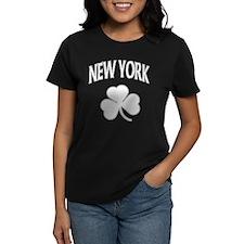 New York Irish Shamrock Women's Dark T-Shirt