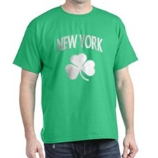 New York Irish Shamrock Dark T-Shirt