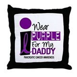 I Wear Purple For My Daddy 9 PC Throw Pillow