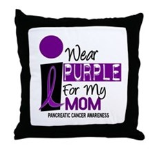 I Wear Purple For My Mom 9 PC Throw Pillow
