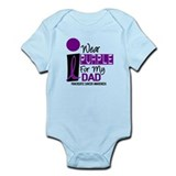 I Wear Purple For My Dad 9 PC Onesie