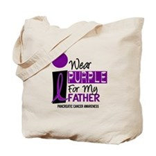 I Wear Purple For My Father 9 PC Tote Bag