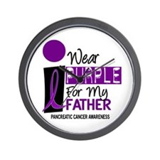I Wear Purple For My Father 9 PC Wall Clock