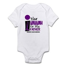 I Wear Purple For My Father 9 PC Infant Bodysuit