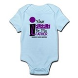 I Wear Purple For My Father 9 PC Onesie