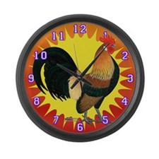 Rise And Shine Bantam Large Wall Clock