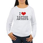 I Love Tattoo Artists Women's Long Sleeve T-Shirt
