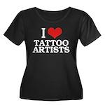 I Love Tattoo Artists Women's Plus Size Scoop Neck