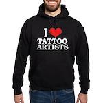 I Love Tattoo Artists Hoodie (dark)