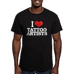 I Love Tattoo Artists Men's Fitted T-Shirt (dark)