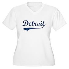 Detroit Script Distressed T-Shirt