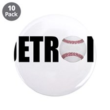 "Detroit Baseball 3.5"" Button (10 pack)"