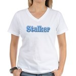 Stalker Girly Lady Women's V-Neck T-Shirt