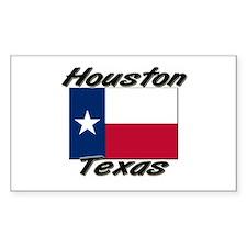 Houston Texas Rectangle Decal